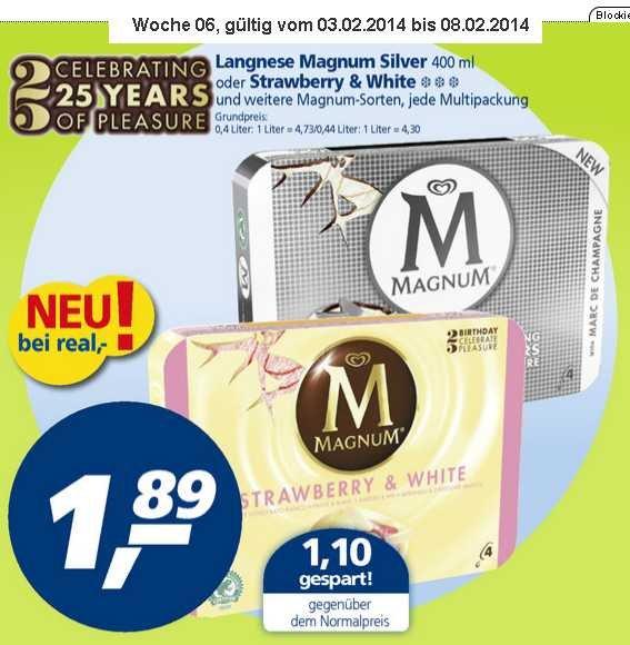 [real - ev nur lokal?] Langnese Magnum 4er für 1.89€ ab 3.2.