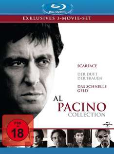 3-Movie-Collections z.B. Al Pacino Collection, Robert De Niro Collection, Denzel Washington Collection [Blu-ray] für je 13 € inklusive Versand