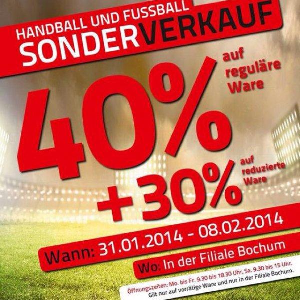 (Lokal: Bochum) Teamsport Phillip 40% auf reguläre Fußball- & Handballequipment