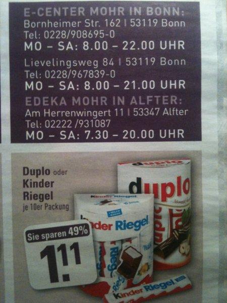(Rhein Ruhr Gebiet) Edeka Duplo oder Kinder Riegel 10er 1,11€