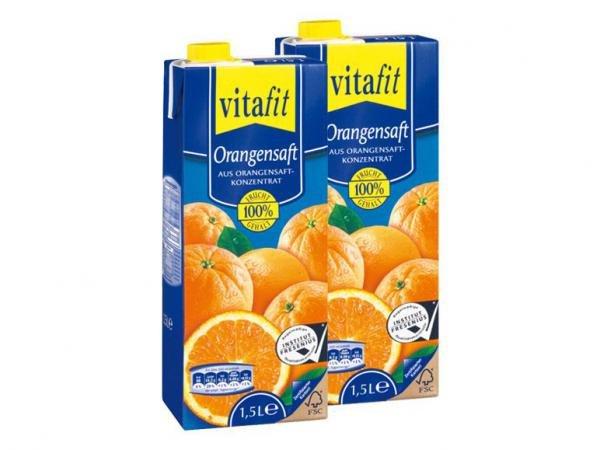 vitafit Orangensaft 1,5l - im LIDL am 8.2.2014 Super Samstag für 0,99 €