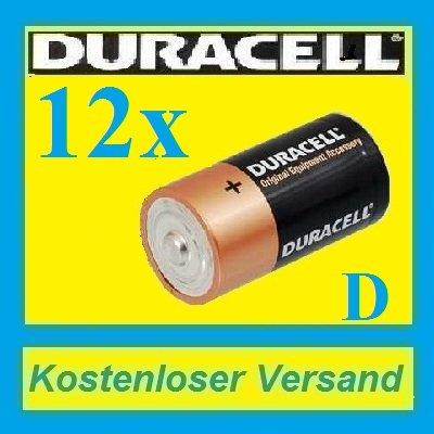 [ebay] 12X Duracell OEM Batterie Mono D LR20 MN1300 UM1 Batterien NEU