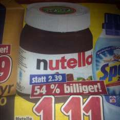 Nutella 450g 1,11€, Spectrum Center Greiz
