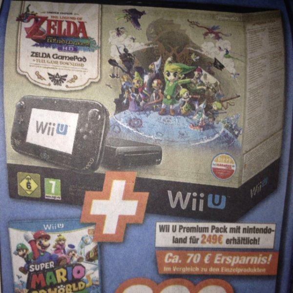 (Lokal Neuwied/Koblenz) Wii U Bundle Zelda Windwaker HD  + Super Mario World HD