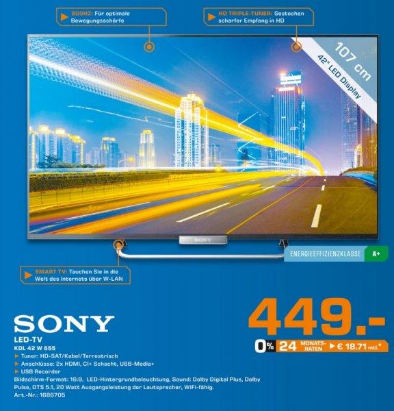 Sony KDL-42W655 für 449€,Samsung UE55F6510 899€,LG 60LA7408 1355€ Lokal [Saturn Hamm]Tagesangebot