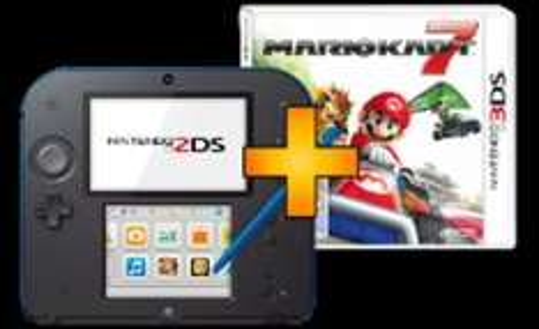 NINTENDO 2DS schwarz/blau + Mario Kart 7
