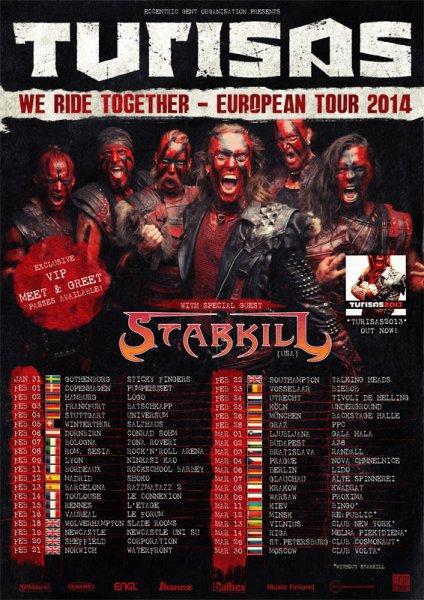 2 Tickets für Turisas heute in Frankfurt zu verschenken