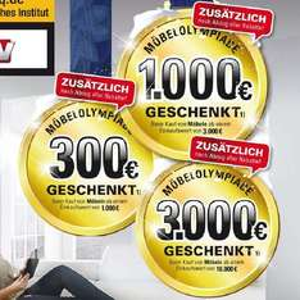 [UPDATE] Möbel Höffner - 1.000€ Rabatt ab 3.000€ Einkaufswert - sowie weitere Rabatte