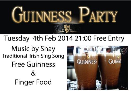 (Lokal/Bonn) 4.2.2014 Frei-Guinness im Fiddlers Irish Pub in Bonn