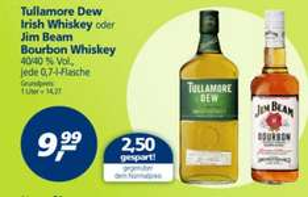 [Bielefeld und Bundesweit] Tullamore Dew Irish Whiskey für 9,99€ @real