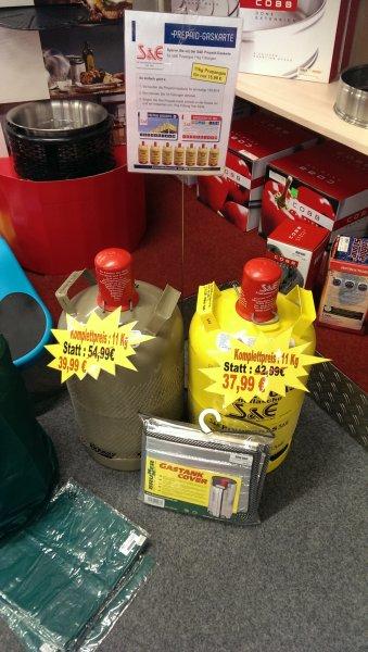 [Offline] Stellfeld & Ernst Dortmund | Campingdeal oder für alle die Propan nutzen. 11kg Propan Eigentumsflasche (Grau) gefüllt 39,99€ / 11kg S&E Eigentumsflasche (Gelb) gefüllt 37,99€