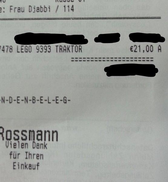 [Rossmann] LEGO Technik Traktor 9393 für 21 Euro