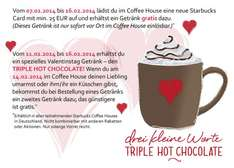 Starbucks: Valentinstag Aktion 07.02.2014 - 16.02.2014