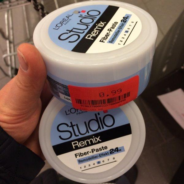 L'oreal Studio, Remix - Fiber-Paste Haarwax