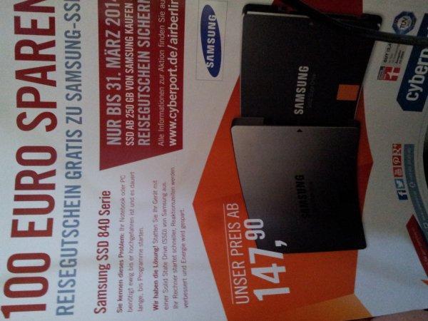 Samsung 840 SSD kaufen und 100€ HolidayCheck Gutschein erhalten