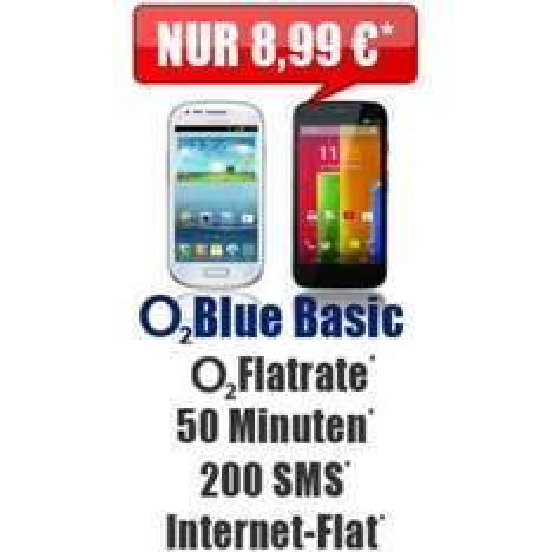 Motorola Moto G + O2 + Internet Flat + 200SMS + 50 Min nur 8,99€ mtl Kein Anschlußpreis