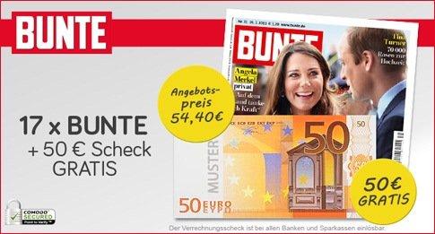 """17x Ausgaben der Zeitschrift """"Bunte"""" im Abo für effektiv 4,40 EUR (limitiert auf 400 Abos!)"""