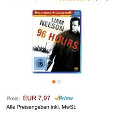 96 Hours Bluray Amazon Prime
