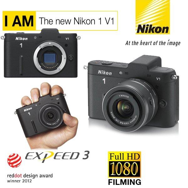 Nikon 1 V1 mit 10-30mm Objektiv in Schwarz