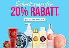 20% Rabatt + Gratis Aloe Face Gel bei The Body Shop