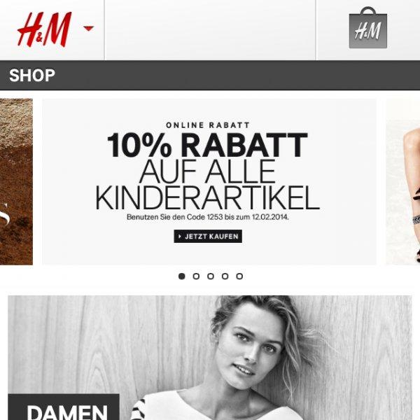 H&M 10% Auf Kinderartikel! Auch auf Sale!!