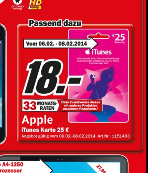 [MM Sindelfingen] 28% auf iTunes 25 € Guthabenkarte