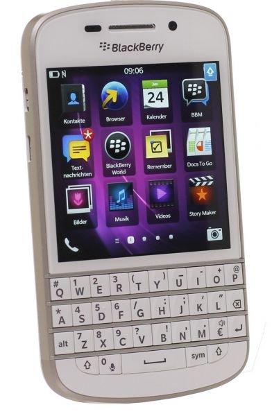 Getgoods: BlackBerry Q10 White, das mit Tastatur, 70€ unter idealo