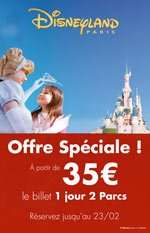 DisneylandParis Ticket 1Tag 2 Parks ab 35€/39€! 53%/48% Ersparnis!