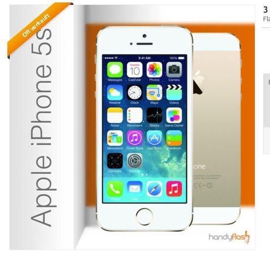 5,83€ effektive Grundgebühr: Org. Vodafone Allnet Flat für 29,99€ mit Apple Iphone 5s für einmalig 19,95€