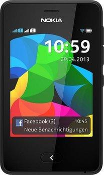 Nokia Asha 501 Dual SIM Schwarz für 55€@MM