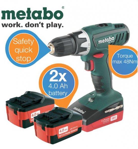 [ibood] Metabo BS 18 Li-Ion Bohrschrauber für 205,90€