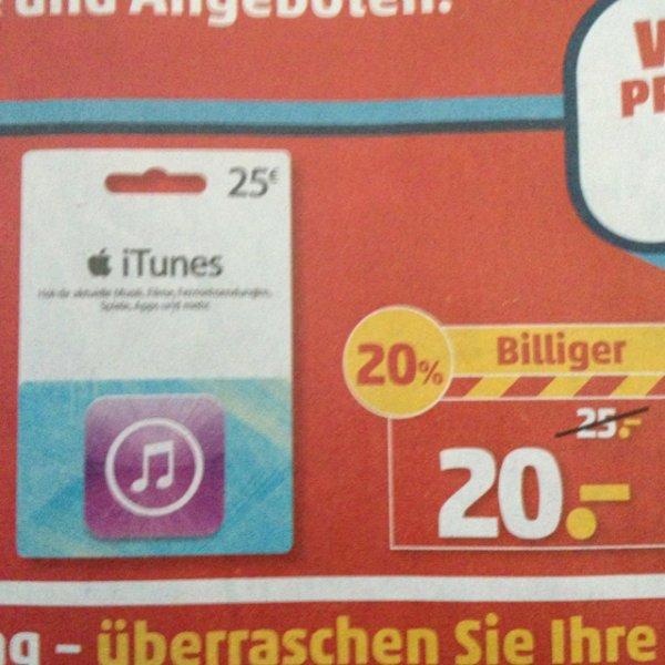 [Penny] 20% auf 25€ iTunes Gutschein-Karte