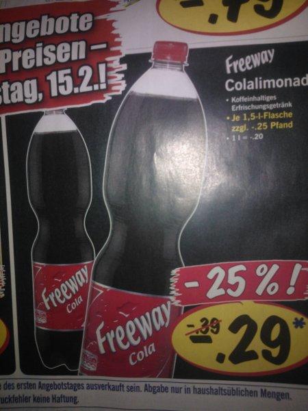 """Freeway Cola 1,5l Flasche bei Lidl mal wieder für 0,29€ ++lang lang isses her! aber leider nur am 15.2. """"Supi-Tag welcher auf Freitag folgt"""""""
