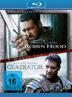 Robin Hood / Gladiator (Director's Cut / Extended Edition) Blu Ray @Amazon