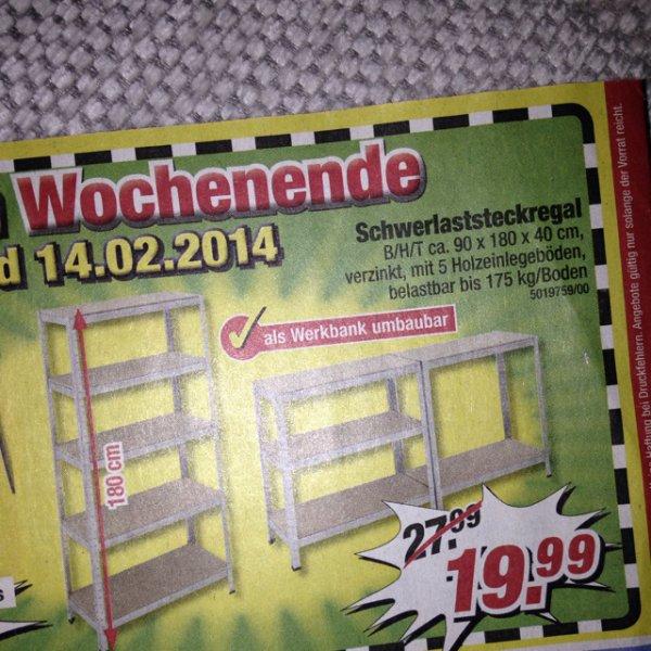 Schwerlaststreckregal 19,99€ POCCO