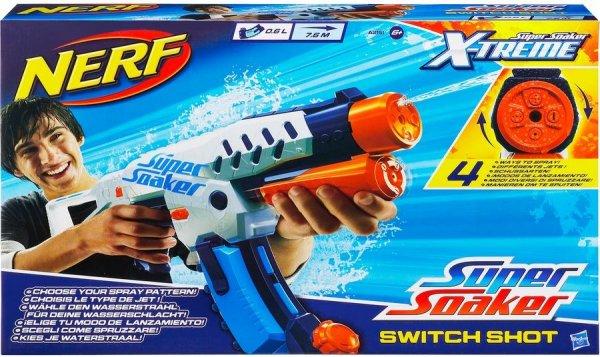 Hasbro Nerf Super Soaker ?Switch Shot ?A2151E24 Wasserpistole mit 0,6 Liter Tank für 16€ bei billig.de