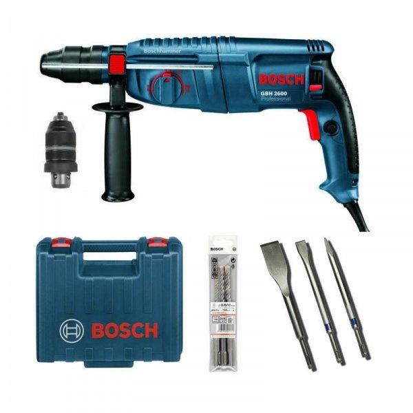 [ebay] Bosch Bohrhammer GBH 26000 Professional + 3-teiliges Meißel- und Bohrer-Set für 169,90€