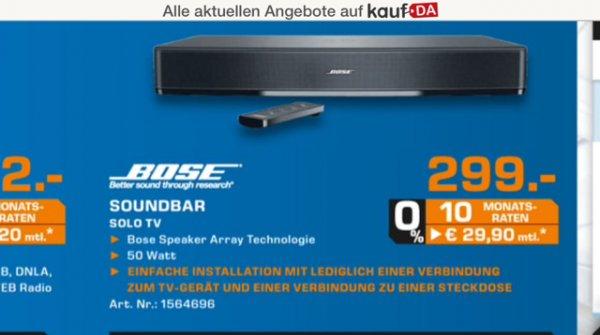 Saturn Krefeld - Bose Solo TV (idealo 348€)