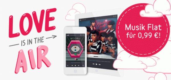 Deezer Valentins Geschenk: Musik Flatrate für 0,99 €!