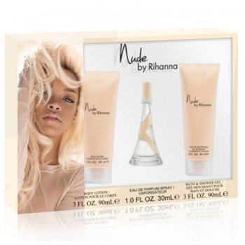 Rihanna Nude Travel Frenzy Set EDP Spray 30 ml, Shower Gel 90 ml plus Body Lotion 90 ml, 1er Pack (1 x 210 ml)