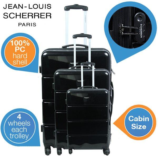 Jean Louis Scherrer 3-teiliges Hartschalen-Koffer-Set für 149,95 Euro bei iBOOD