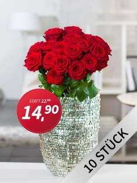 Rote Rosen zum Valentinstag!
