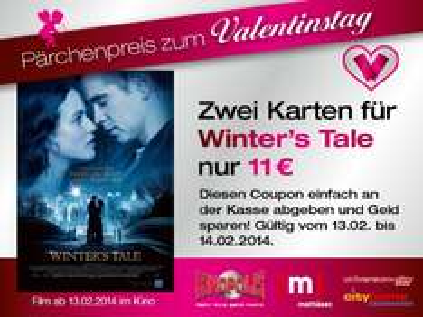 Kinofilm Winter's Tale - Pärchenpreis zum Valentinstag