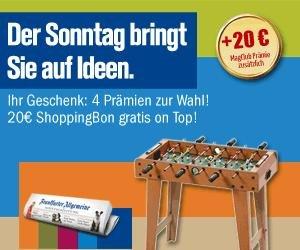 3 Monate Frankfurter Allgemeine Sonntagszeitung mit 5,10€ Gewinn durch Gutschein / Qipu