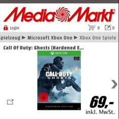 "Call of Duty Ghost: Hardened Edition 69€ ""Mediamarkt Online + Lokal"" Xbox One & PS4"