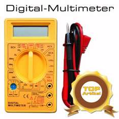 Digital LCD Multimeter Messgerät TÜV CE9V