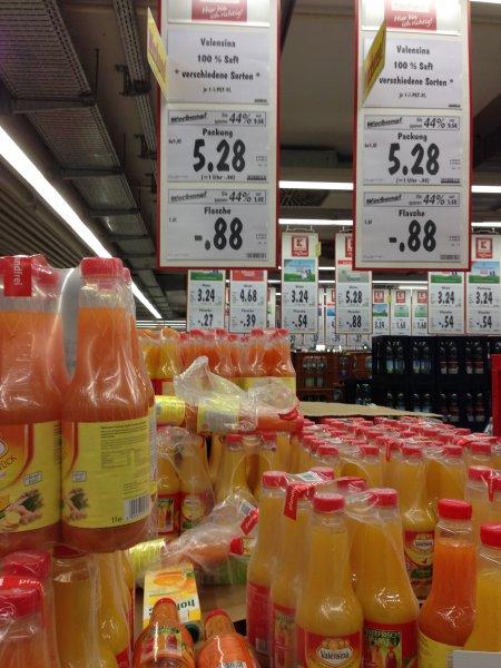 [Lokal Kaufland Freiburg] Valensina verschiedene Fruchtsäfte und Nektar für 0,88€