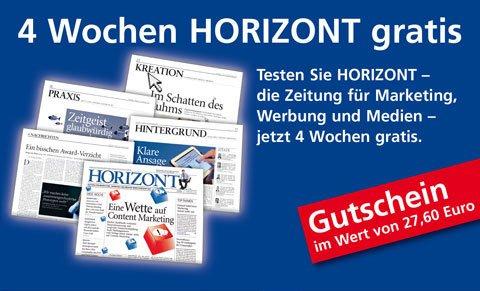 HORIZONT 4 Wochen kostenlos testen (inkl. E-Paper-Freischaltung für iPad und PC/Mac)