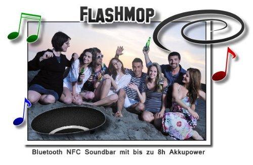 """""""Flashmop"""" wireless (kabellos) mini Bluetooth Lautsprecher mit NFC - Soundbar über 8 Stunden Akku & Handy Freisprech. für Apple, Android, alle Smartphones mit Gutscheincode bestbean   -  20 Euro Rabatt  @Amazon"""