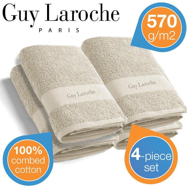 Guy Laroche Hand-/Badetücher 4 x 570 g/m2 @ibood 29,95 + 5,95 VSK